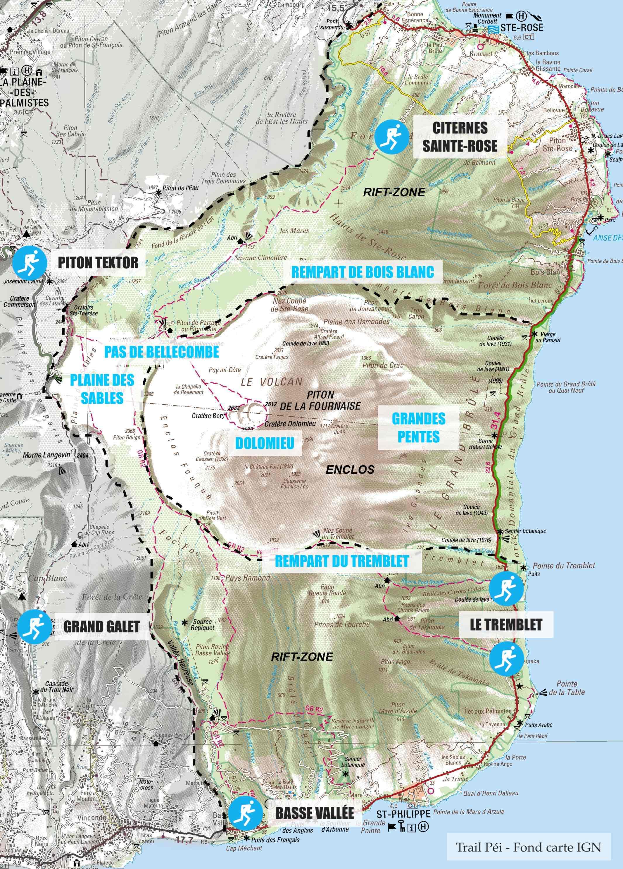 Trail-Péi-Carte-Volcan-Piton-Fournaise