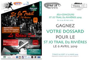 Jeu-concours St Jo Trail D2 Rivières 2019