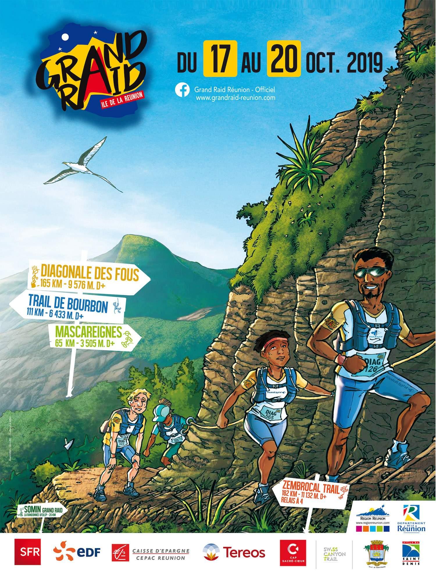 Affiche Grand Raid Réunion 2019