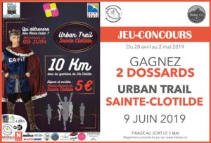 Jeu-concours Trail Urbain Sainte-Clotilde 2019