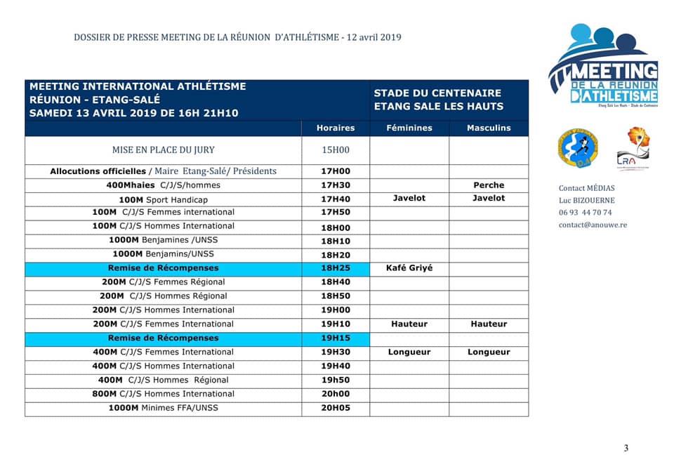 Programme-Meeting-Athlétisme-Réunion-2019