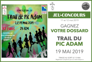 Jeu-concours Trail du Pic Adam 2019
