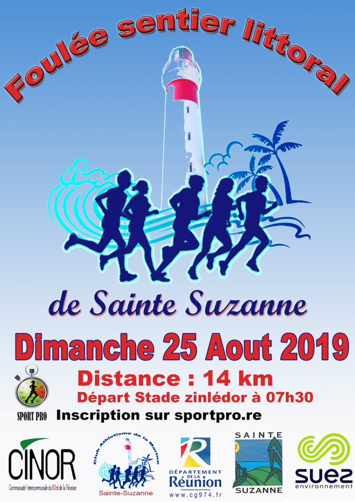 Affiche-Foulées-Sentier-Littoral-Sainte-Suzanne-2019