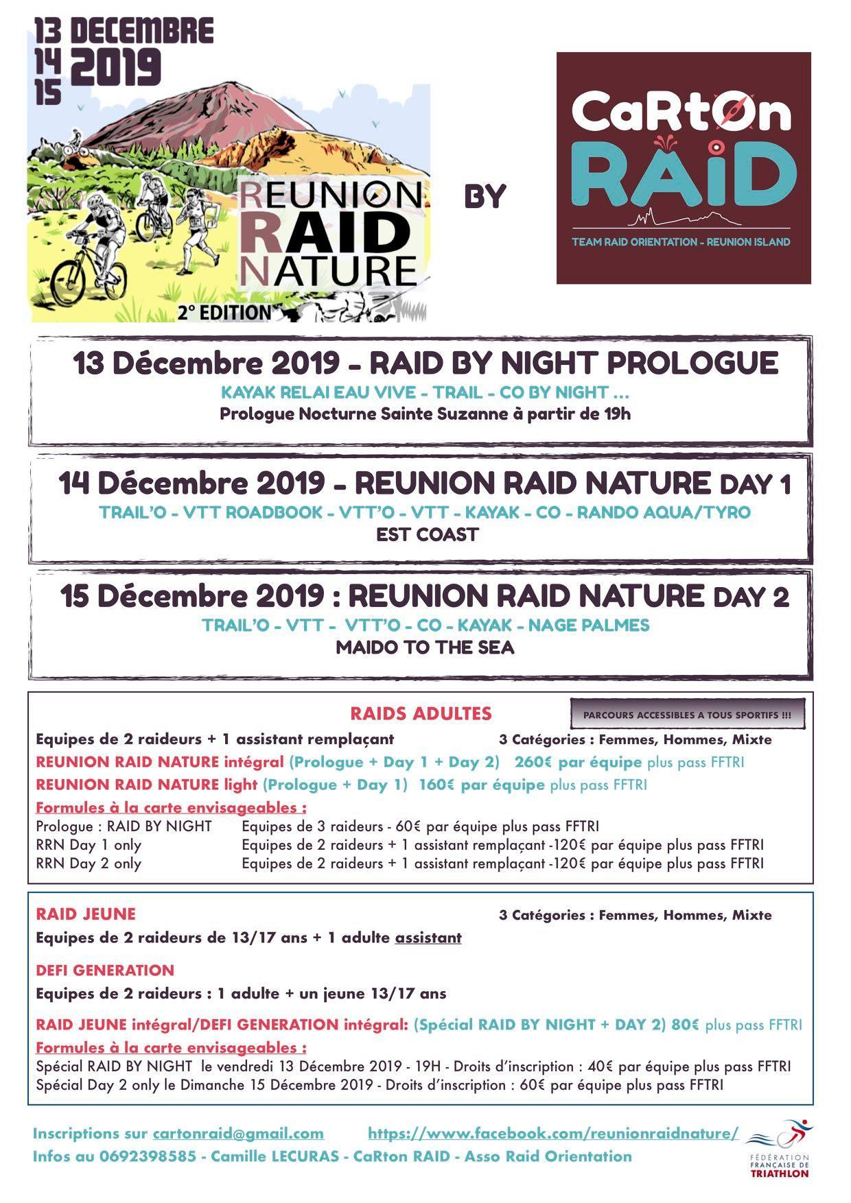 Calendrier Raid Multisport 2019.Reunion Raid Nature 2019 Trail Pei