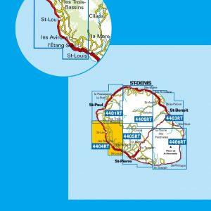 Carte IGN Réunion 4404 RT Saint-Leu