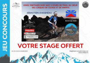Jeu-concours Stage Trail Sébastien Chaigneau 2020