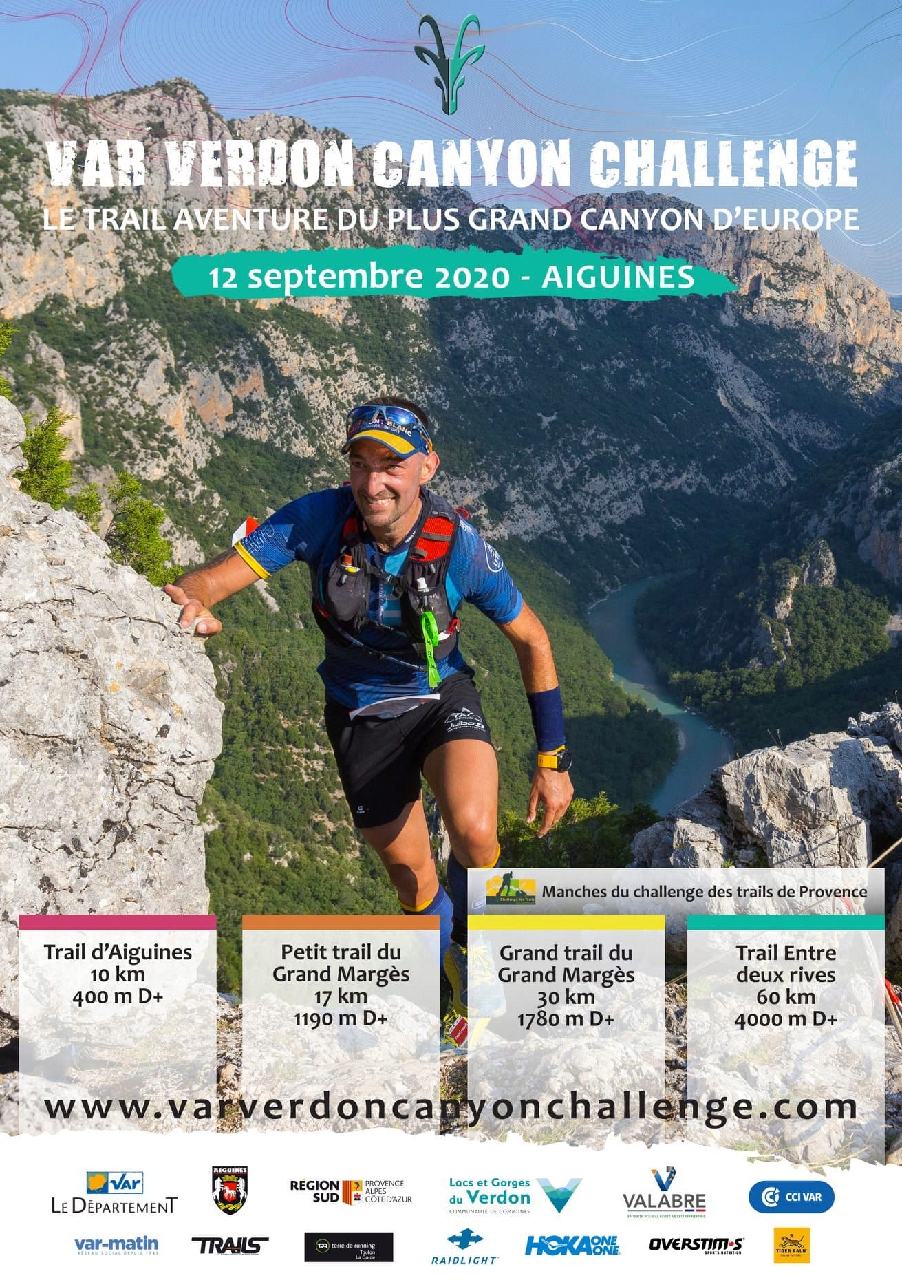 Affiche Var Verdon Canyon Challenge 2020