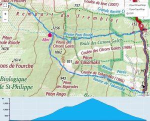 TP Parcours Boucle Le Tremblet - Piton Takamaka - Nez Coupé du Tremblet Trail Péi