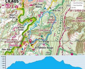 TP Parcours Boucle Palmiste Rouge - Gueule Rouge - Calumets Trail Péi
