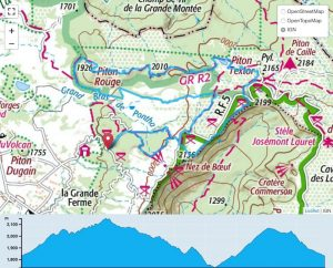 TP Parcours Boucle Piton Sec - Piton Textor - Piton Rouge Trail Péi