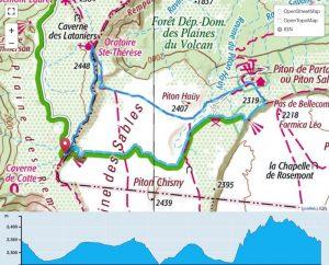 TP Parcours Boucle Plaine des Sables - Pas de Bellecombe Trail Péi