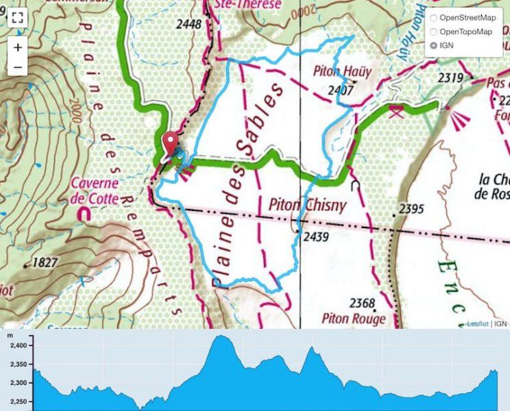 TP Parcours Tour de la Plaine des Sables Trail Péi