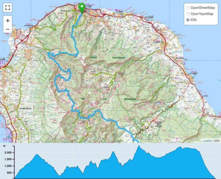 TP Parcours Traversée de La Réunion par le GRR2 Trail Péi