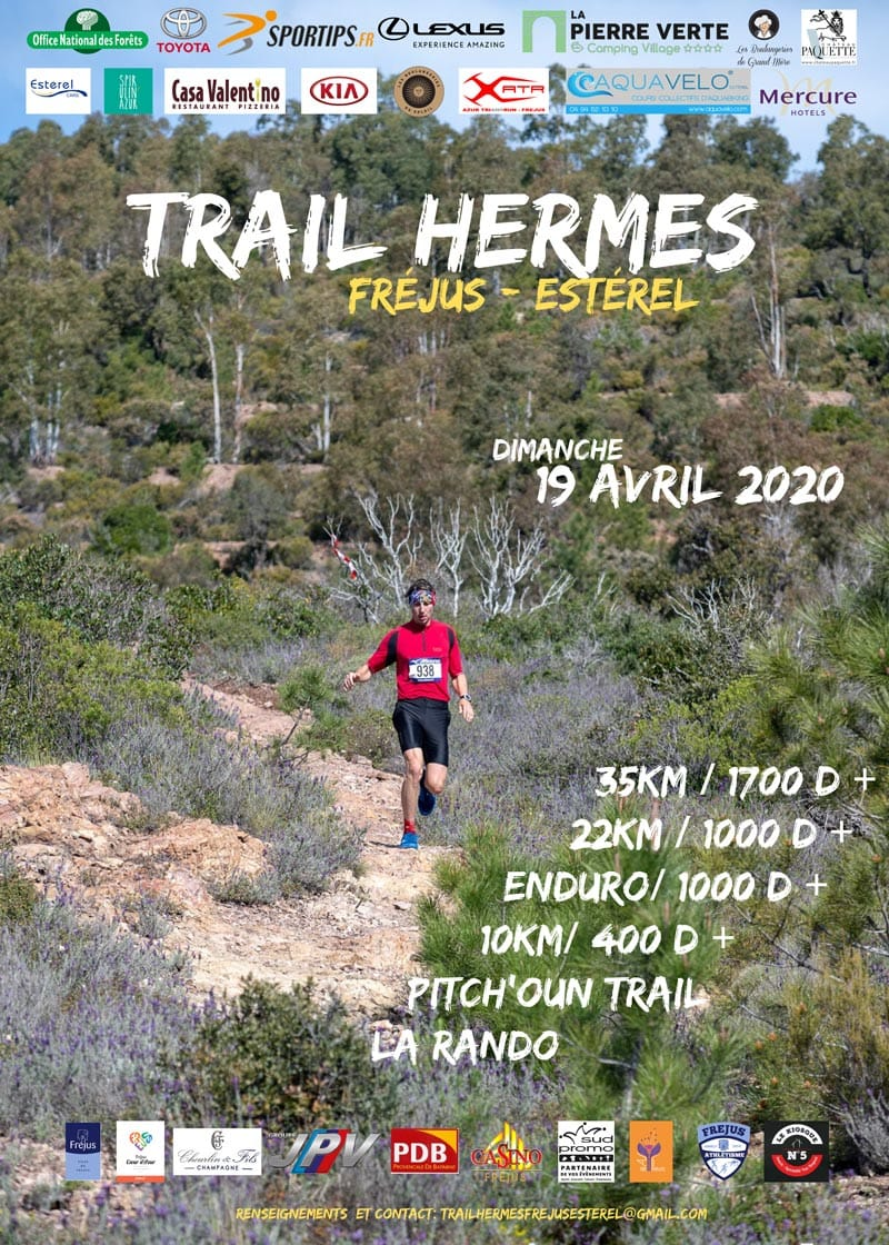 Affiche-Trail-Hermes-Fréjus-Esterel-2020