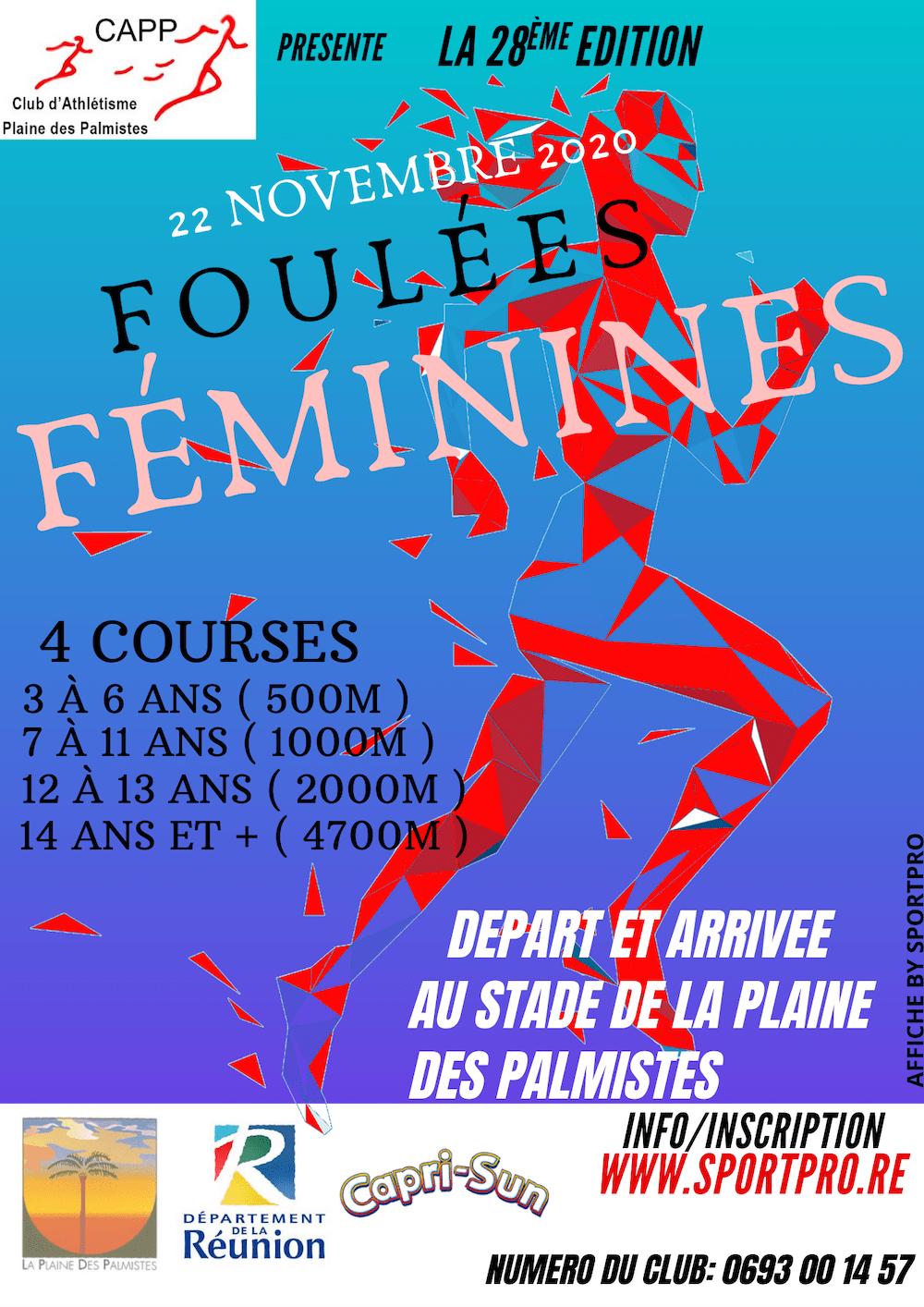 Affiche-Foulées Féminines de la Plaine 2020