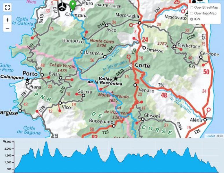 TP-Traversée de la Corse par le GR20 Trail Péi
