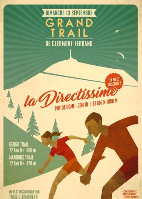Affiche-Grand Trail de Clermont-Ferrand 2020