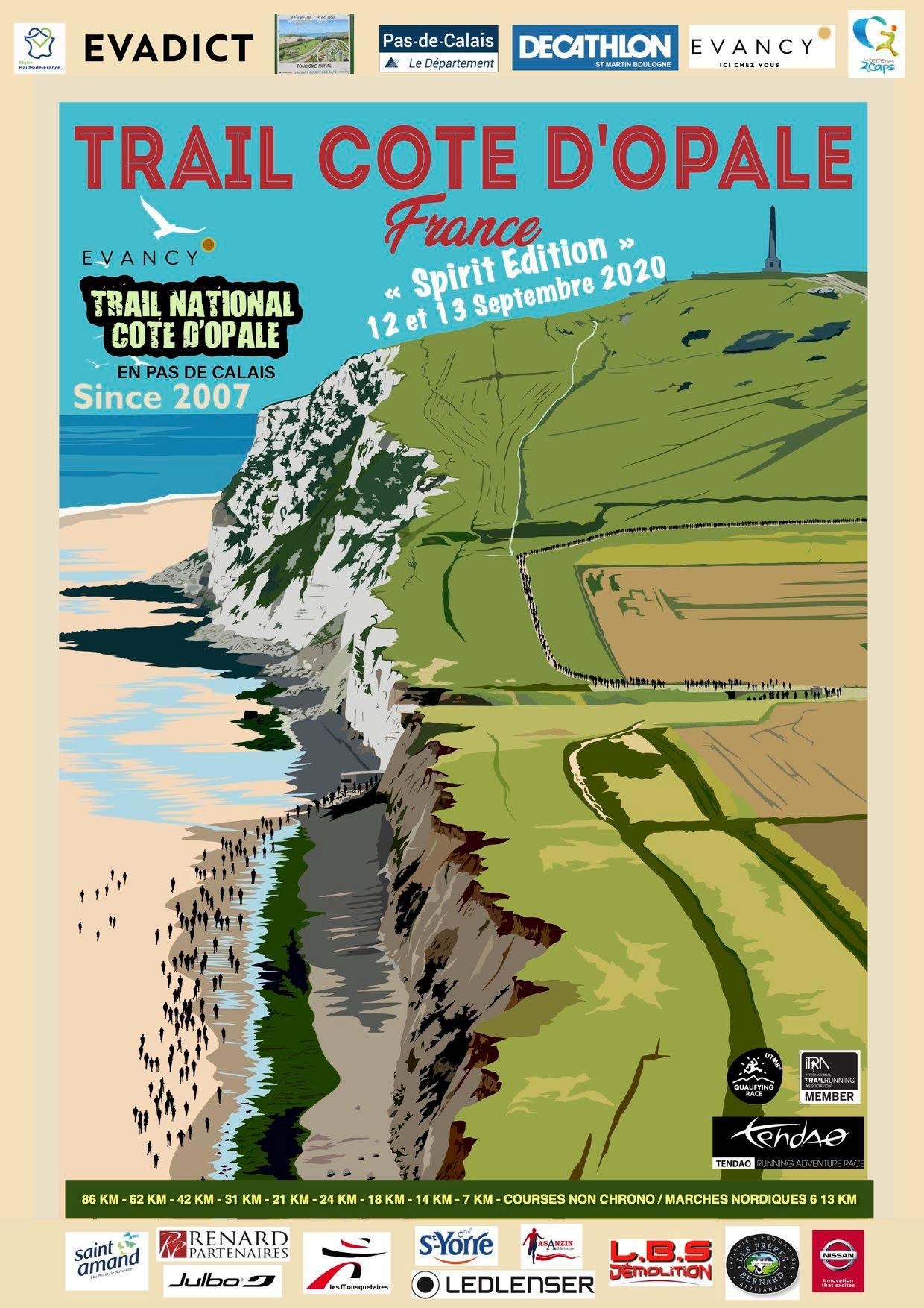 Affiche-Trail Côte d'Opale 2020