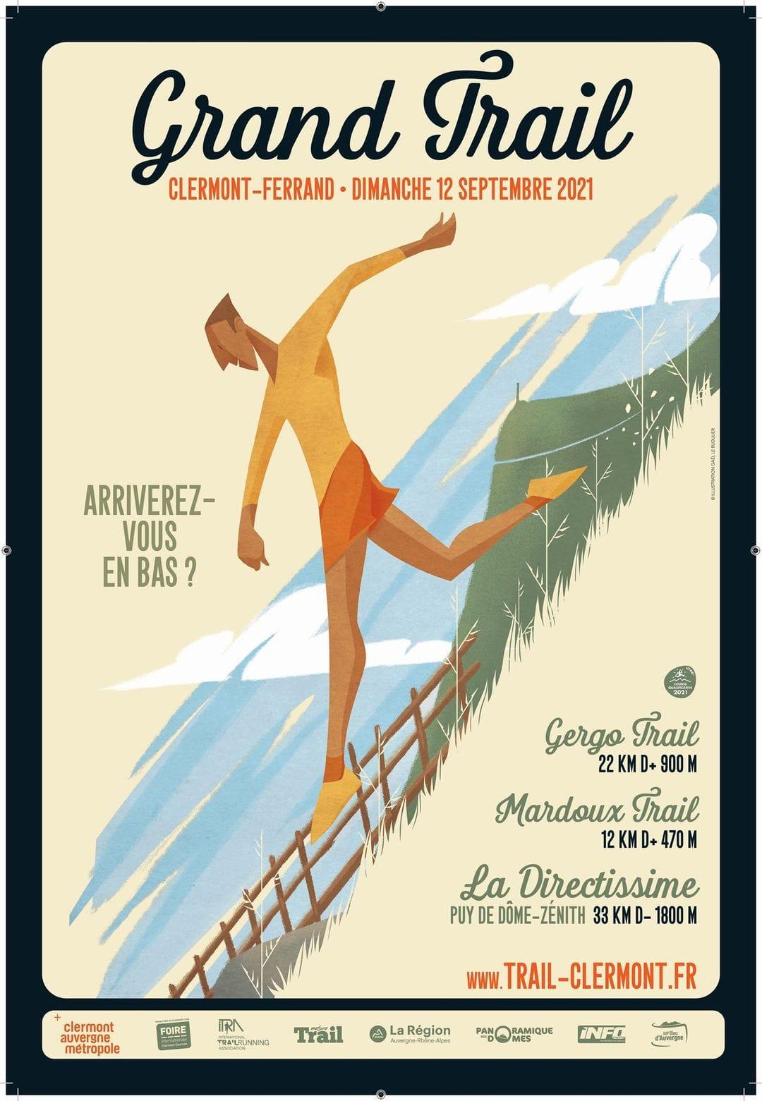 Affiche-Grand Trail Clermont Ferrand 2021