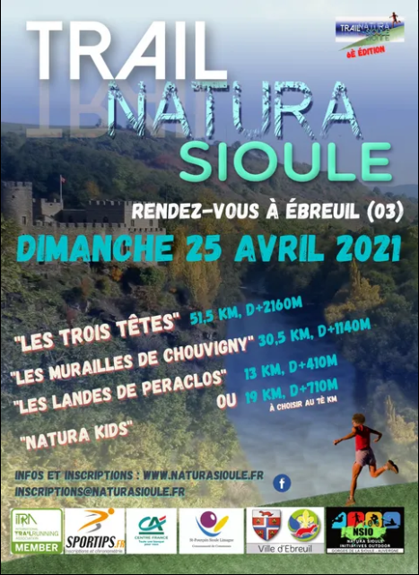 Affiche-Trail Natura Sioule 2021