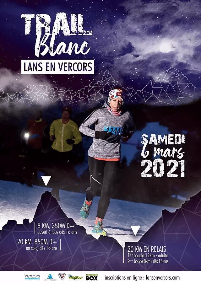 Affiche-Trail Blanc Lans en Vercors 2021