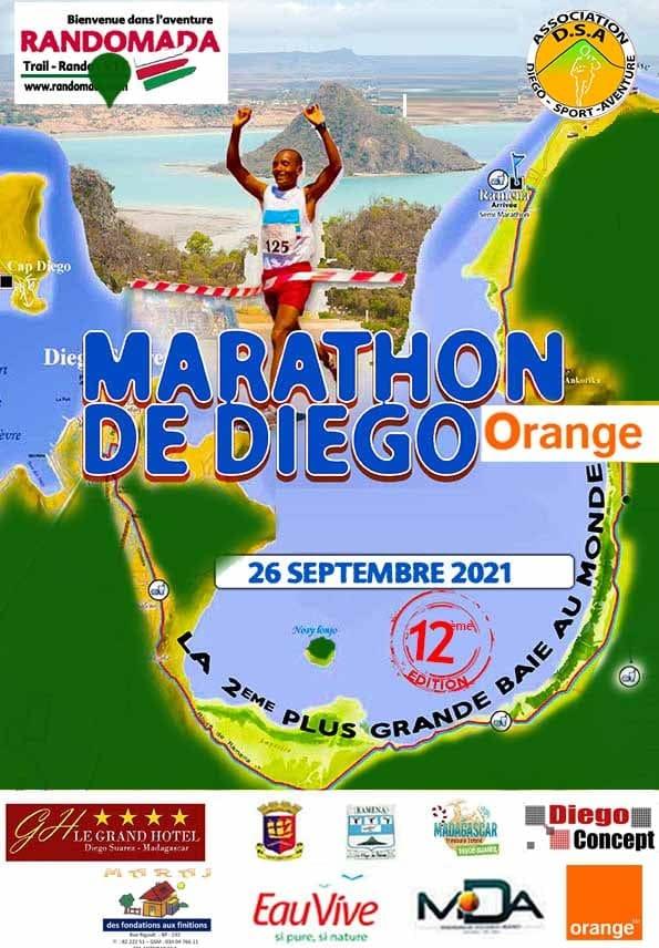Affiche Marathon de Diégo 2021