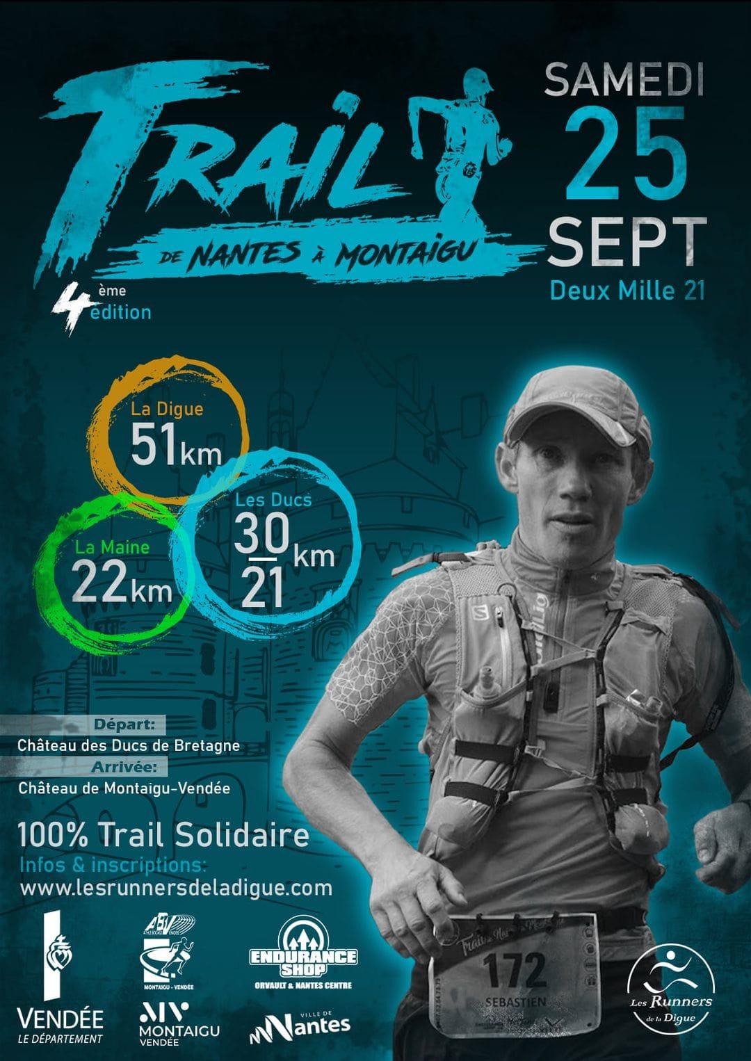 Affiche-Trail de Nantes à Montaigu 2021