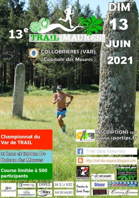 Affiche Trail des Maures 2021
